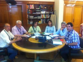 Representantes de CCOO en la reunión en el Ministerio
