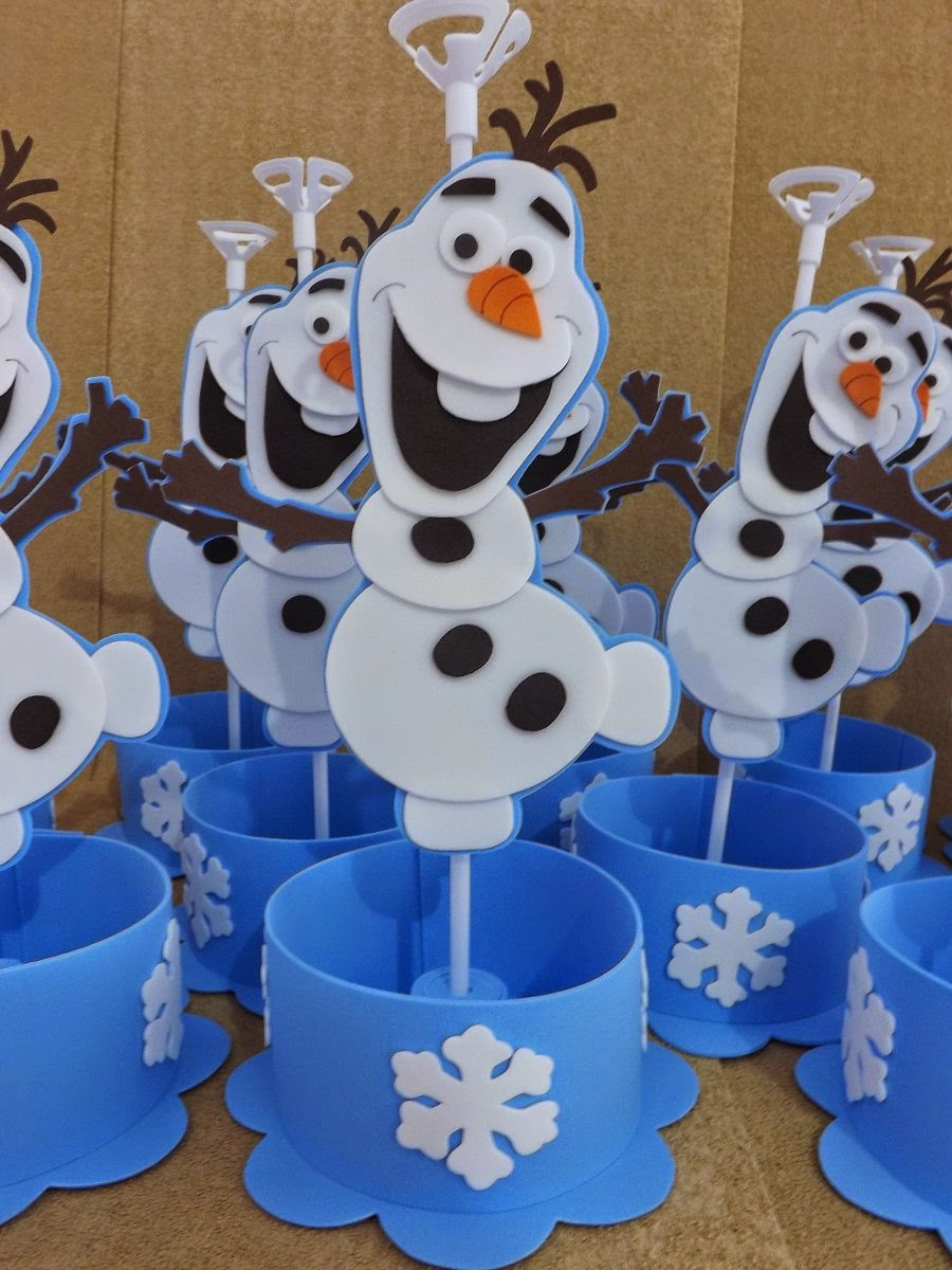 Centro de mesa frozen ana estevan for Centros de mesa de frozen