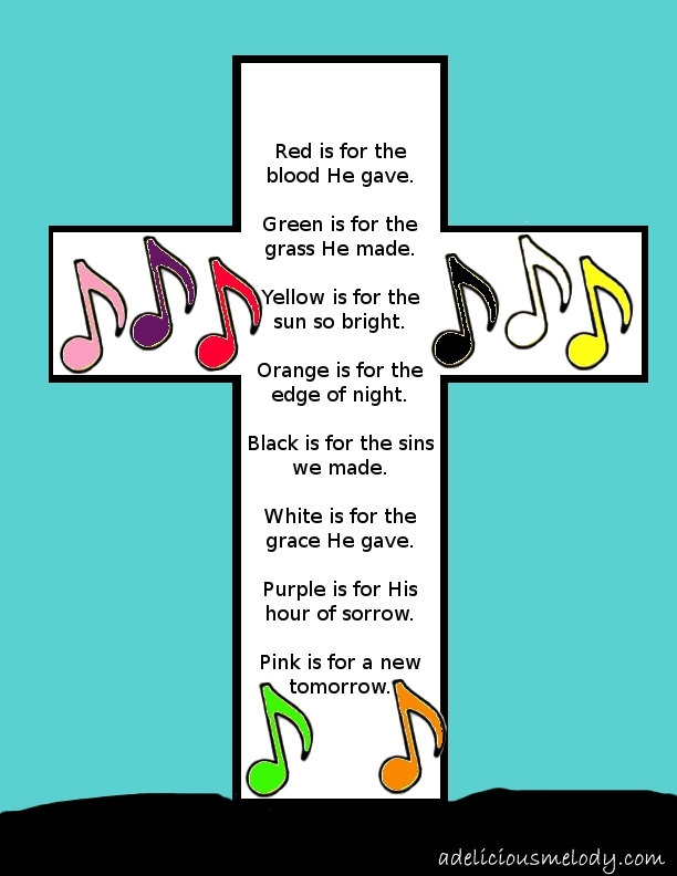 Easter Craft, Poem and Song