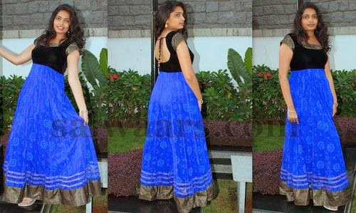 Blue and Black Floor Length Salwar