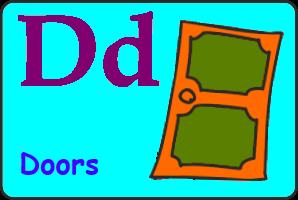 Карточка английской буквы D