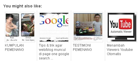 Tips & Tricks - Cara pasang related post dengan thumbnail