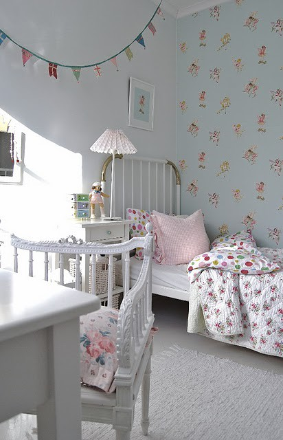 A deco inspiracion exterior dormitorios infantiles para for Dormitorios empapelados y pintados