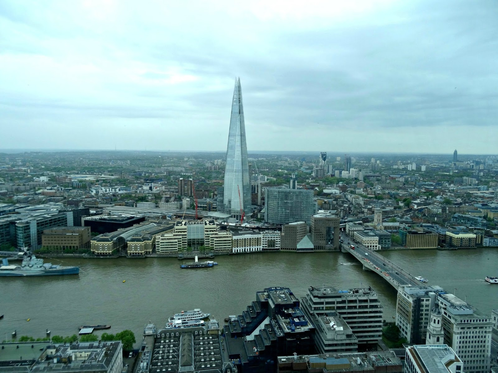 view from Sky Garden London