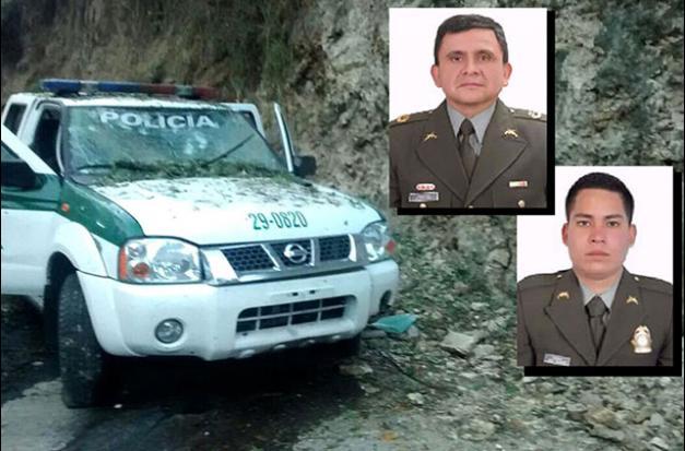 En este estado quedó la patrulla en la que se movilizaban el Coronel Alfredo Ruiz Clavijo, comandante del Distrito de Policía Ipiales