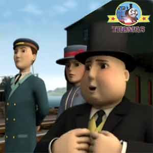 Steam engine Thomas the train and friends party surprise Lady Hatt Happy birthday Sir Topham Hatt