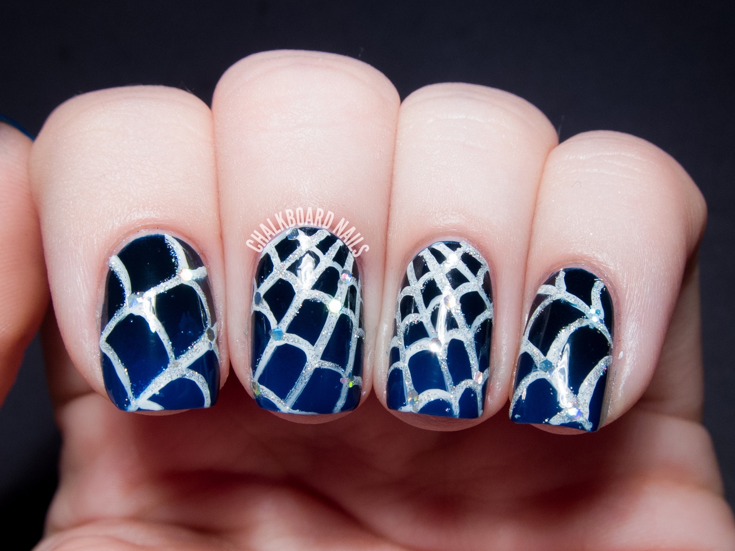 31DC2013 Day 15: Delicate Glistening Spiderwebs | Chalkboard Nails ...