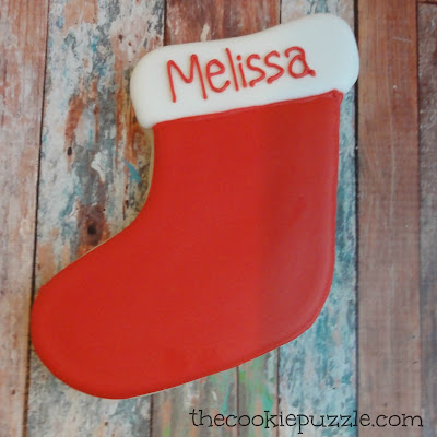 Large Personalized Stocking Cookies