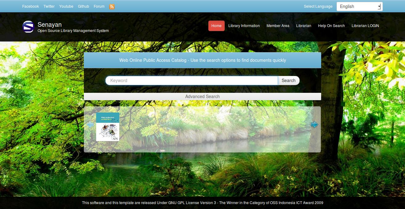 Aplikasi Perpustakaan Senayan Library Management System SLiMS