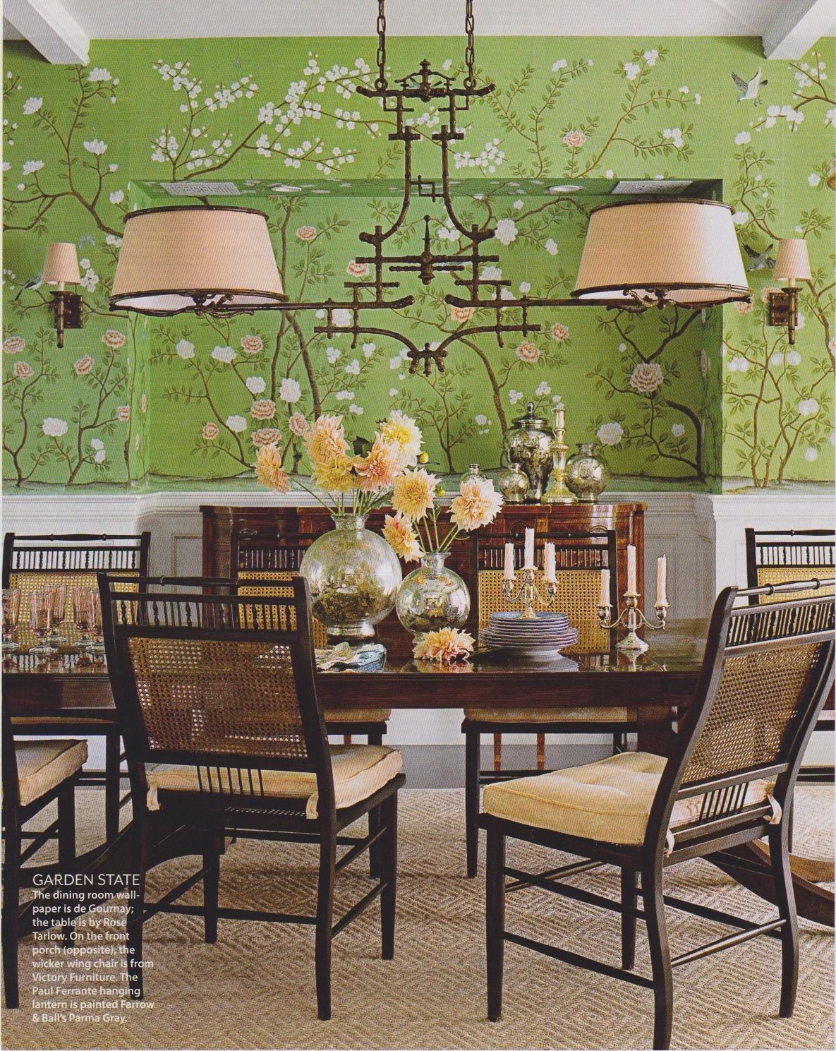 the style abettor: green dining rooms