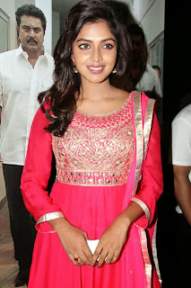 Amala Paul in Red Salwar Kameez at Nimirndhu Nil Movie Audio Launch