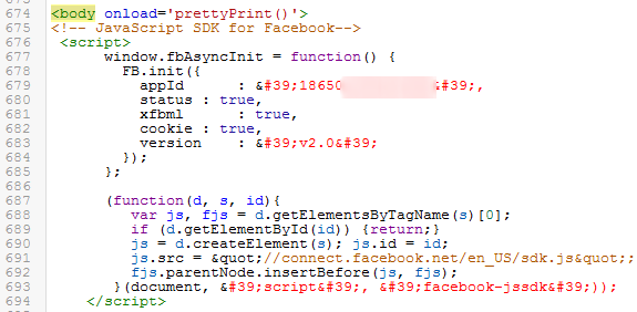 Installing Facebook SDK on Blogger