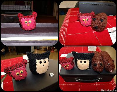 crochet amigurumi owl and hamster