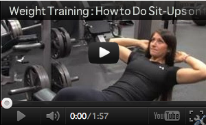 How to do sit-up on bench | watch now!