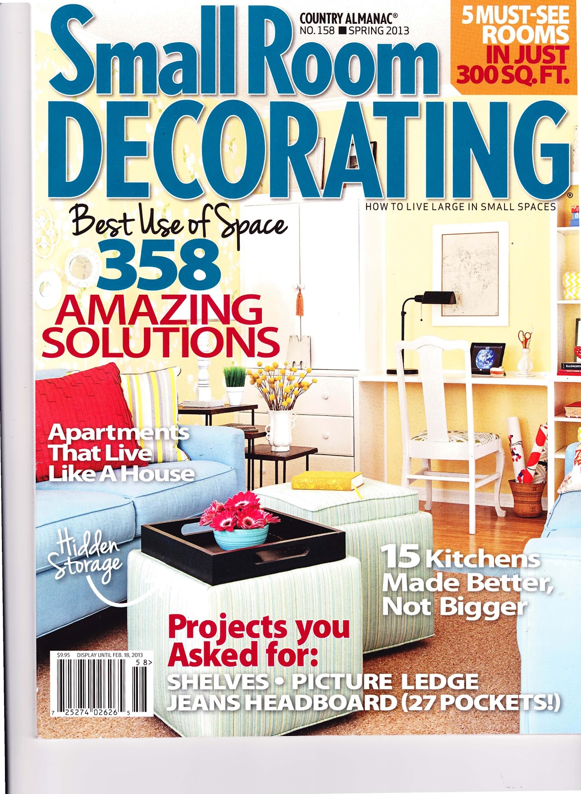 emi interior design, inc: small room decorating magazine 2013