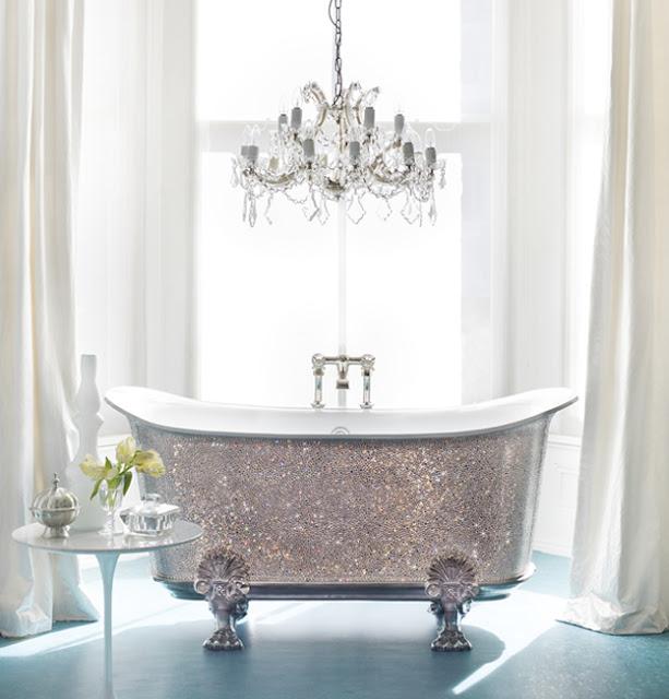 Luxury life design catchpole and rye 39 s swarovski for Glam girl bathroom design ideas