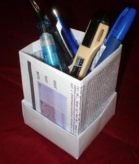 Cara Membuat Kotak Alat Tulis dari Kertas
