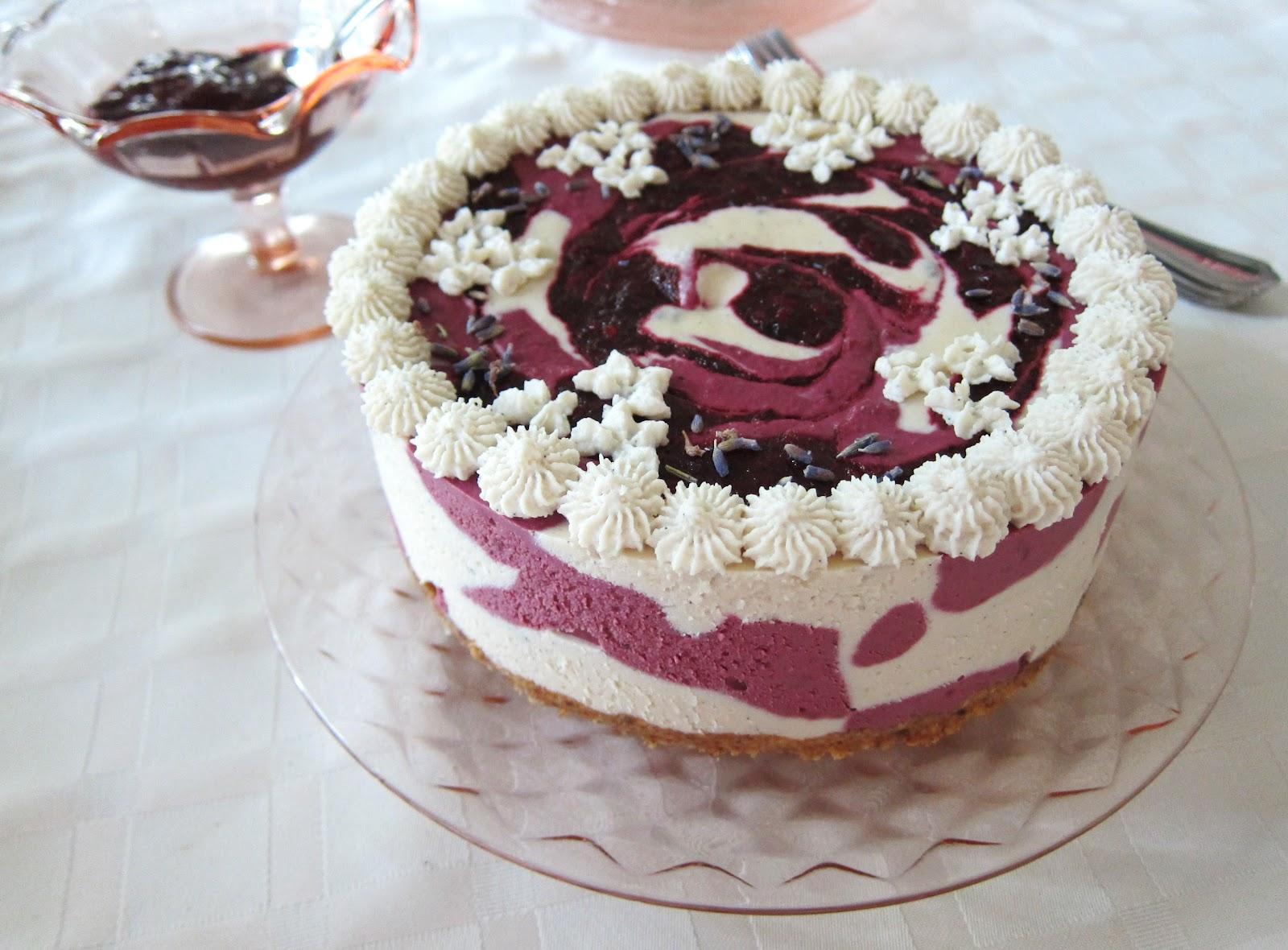 Raw Blackberry Lemon Lavender Cheesecake Fragrant Vanilla Cake