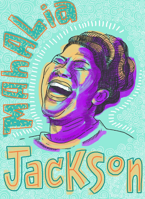 Mahalia Jackson, gospel, r and b, contralto, gospel music, New Orleans, Chicago, blues, The Queen of Gospel