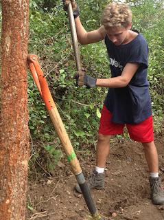 Matt digging
