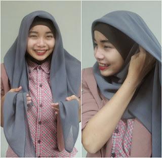 Gambar Cara Memakai Hijab Hana Dewi Sandra Langkah Pertama Tutorial Jilbab Lengkap