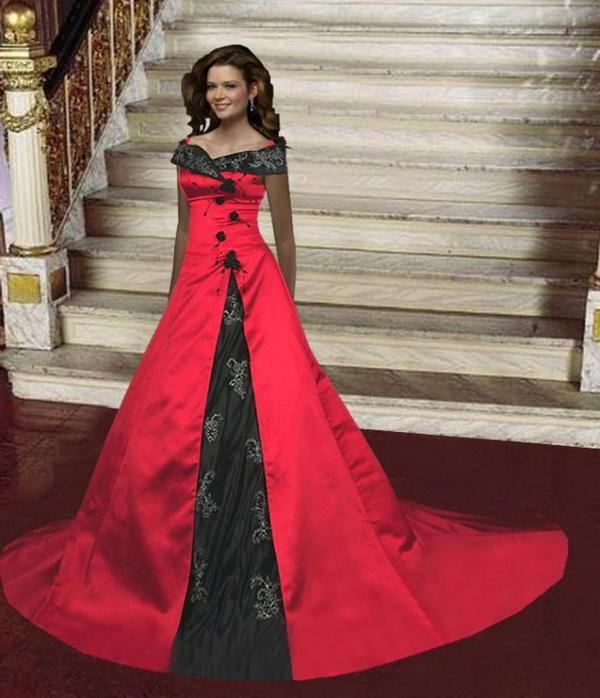 Wedding Dresses Color Red : Color wedding dresses collections women red