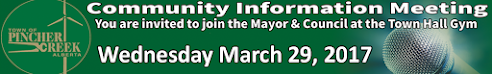 Town community info meeting