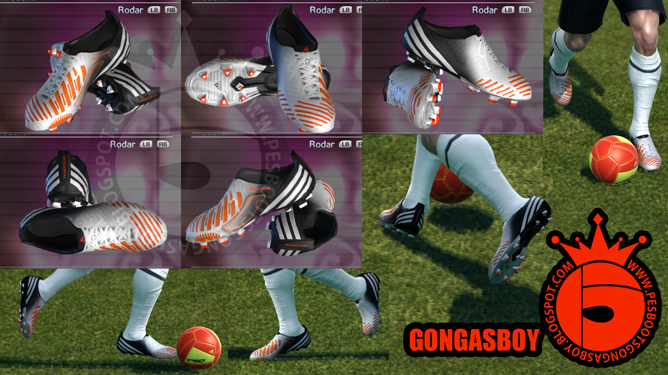 Pes Boots by Gongasboy  Adidas LZ   White Infrared   by GONGASBOY