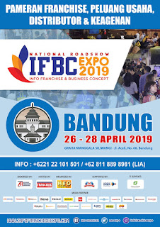 National Road Show INFO FRANCHISE & BUSINESS CONCEPT 2019, BANDUNG 26-28 April 2019