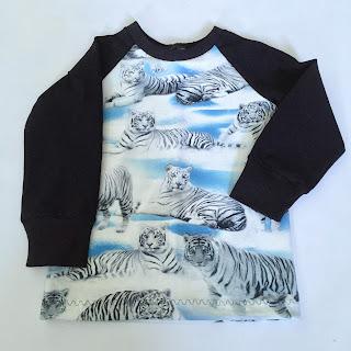 sy barnkläder barn tröja raglantröja tigrar coola kläder sewing