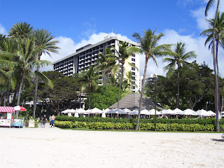 Hale Koa military resort on Waikiki Beach in Oahu, Hawaii