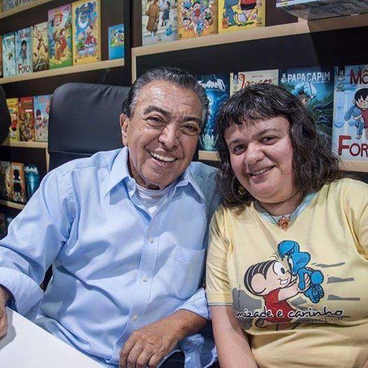 Maurício de Sousa e eu  27/08/2016