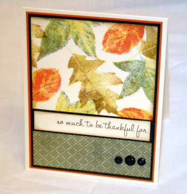 Stamps - Kitchen Sink Stamps Turkey Trot, Multi Step Big Leaves