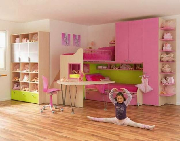 Creative Girls Room Furniture Ideas In Pink Color
