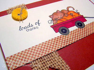 Moxie Fab Blog Hop - Loads of Thanks Card by Newton's Nook Designs