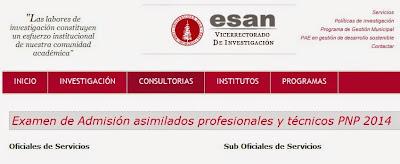 Resultados PNP ESAN (27 Abril 2014) Examen Asimilación Policía ...