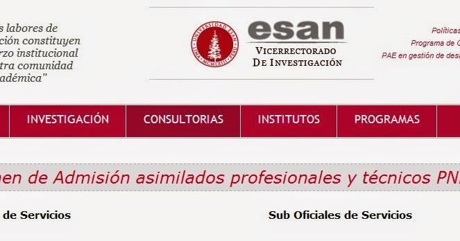 Resultados pnp esan 27 abril 2014 examen asimilaci n for Consulta de saldo cantv