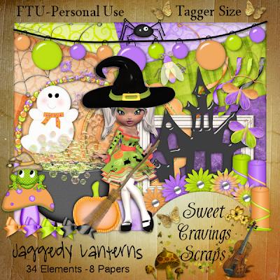 "Scrapbook Freebie kit ""Jaggedy Lanterns"" by sweetcravingsscraps"