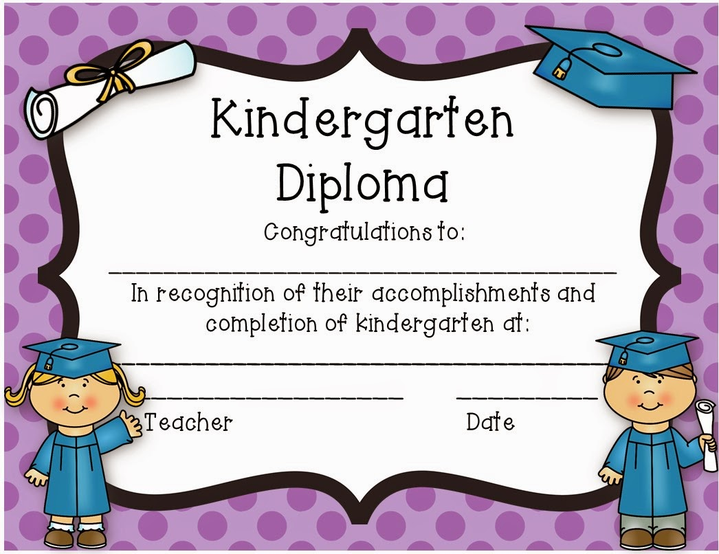 Preschool graduation certificate template yadclub Images
