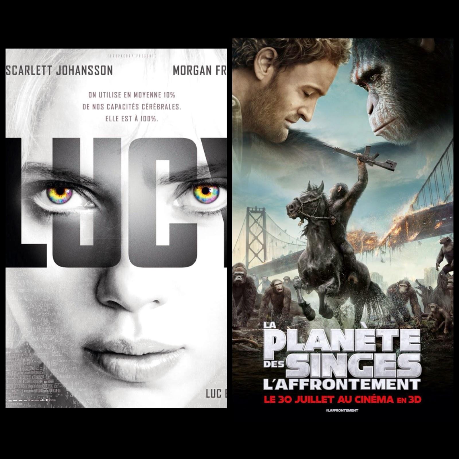 Cinéma #2 : Lucy / La Planète des Singes : l'affrontement