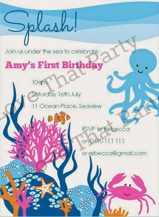 under the sea party invitations - Under The Sea Party Invitations