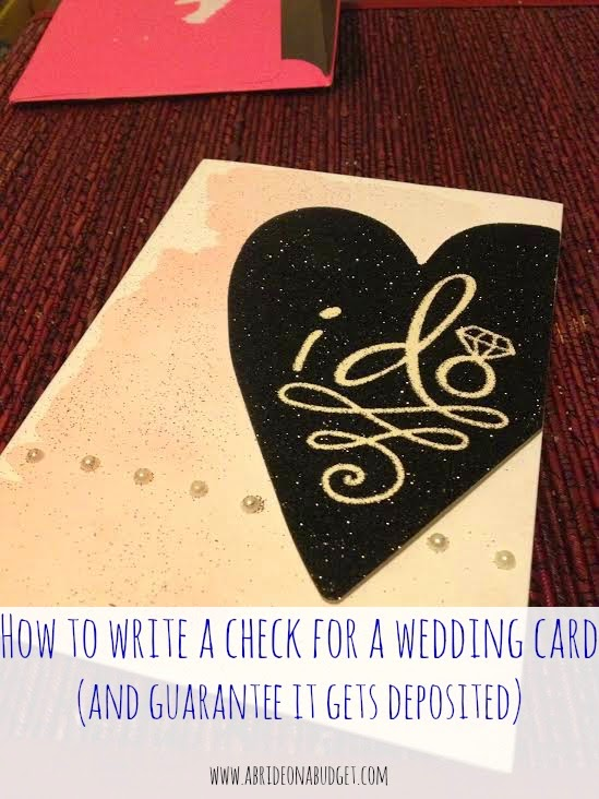 How To Write A Check For A Wedding Card (And guarantee it gets ...