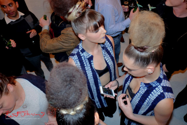 Dancers mingle with crowd, Wolftress WE ARE WARRIORS, VIP Launch 2015
