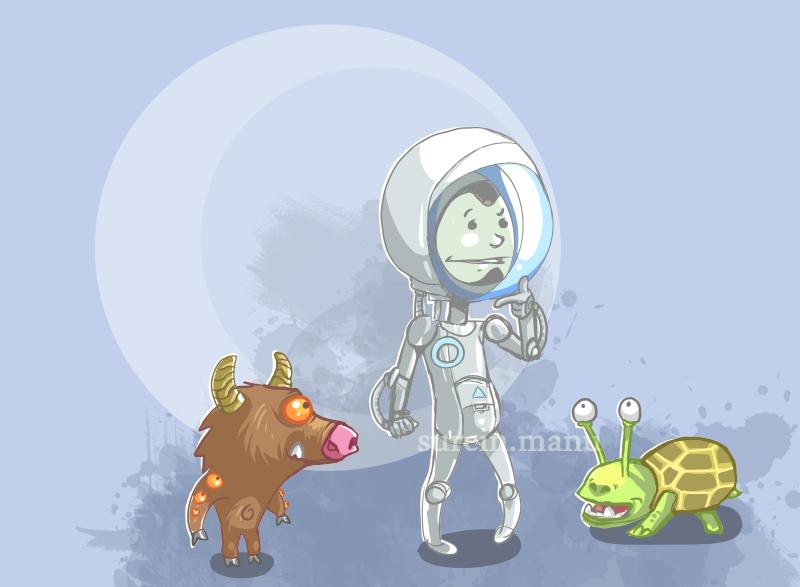 spaceboy et aliens