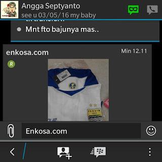 Gambar jersey persib away pesanan Angga Septyanto di enkosa sport toko online terpercaya lokasi di jakarta pasar tanah abang