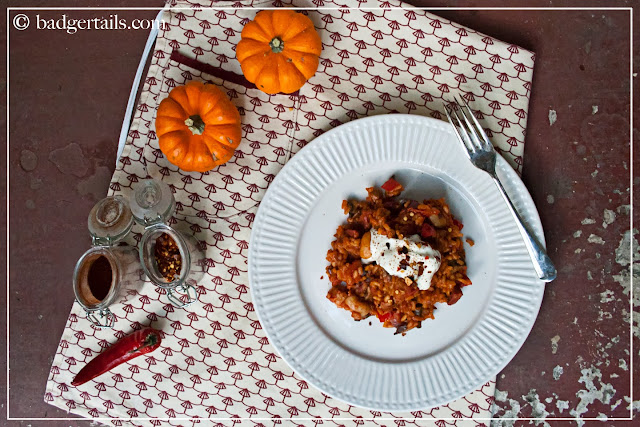 spicy chorizo risotto recipe autumn winter