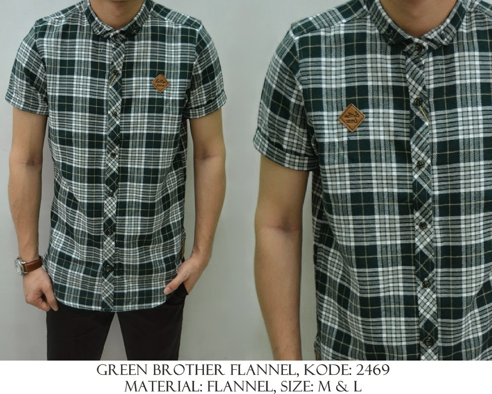 Baju Distro & Baju Kemeja Green Flannel | Shirostore