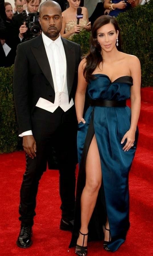 Red Carpet Met Gala 2014 kim kardashian kanye west