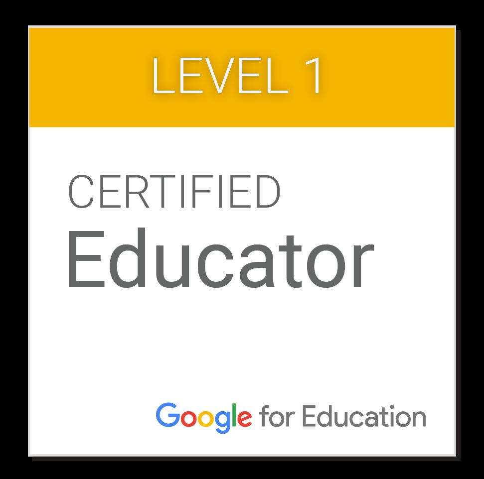 I am a Google Educator!