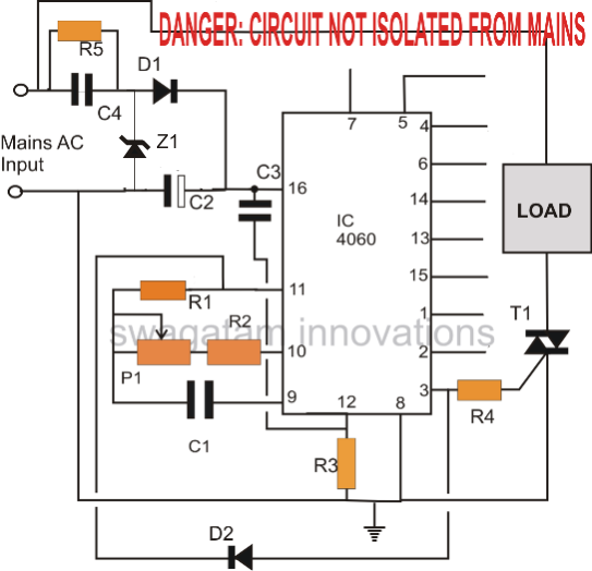 Simple Triac Timer Circuit on 3 position switch wiring diagram